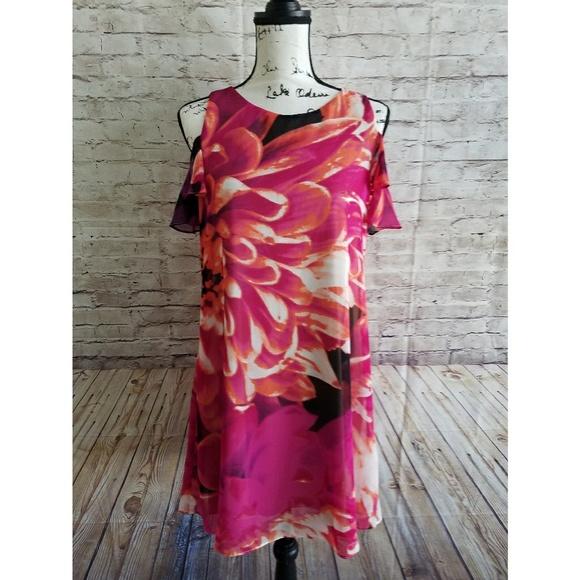 1171b7eeacc0 Kensie Floral Cold Shoulder Dress Size 8 NWT